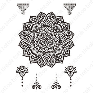 mandala hand temporary tattoo design 038