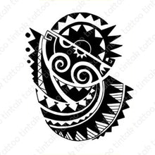Load image into Gallery viewer, Polynesian Tribal Temporary Tattoo design