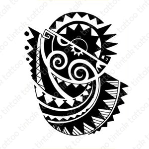 Polynesian Tribal Temporary Tattoo design