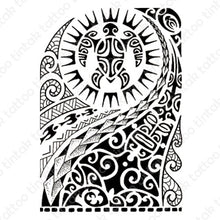 Load image into Gallery viewer, Polynesian temporary tattoo design
