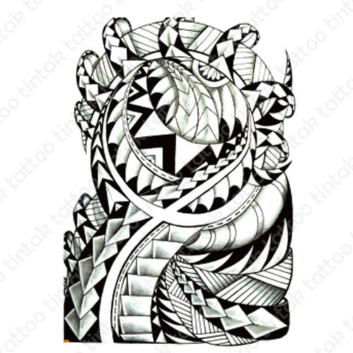 Polynesian temporary tattoo design