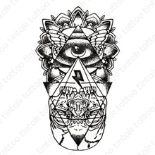 Load image into Gallery viewer, The eye of providence temporary tattoo design.