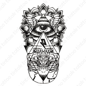 The eye of providence temporary tattoo design.