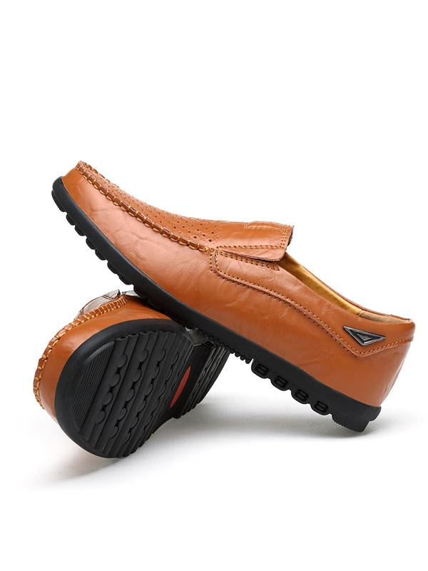 2019 New Breathable Handmade Leather Soft Sole Casual Shoes