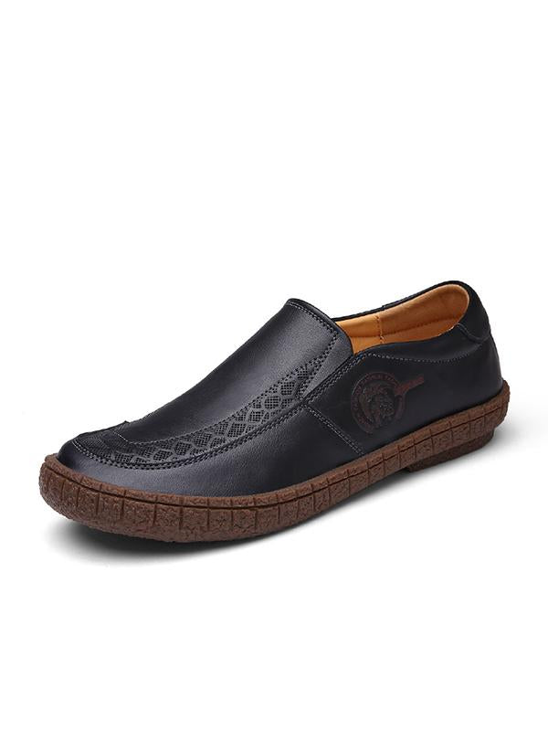 2019 New Handmade Breathable Casual Leather Shoes