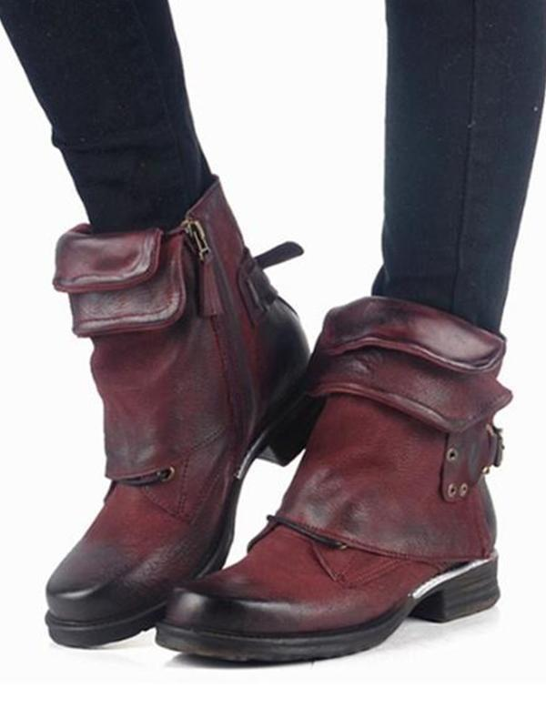 New fashion luxury belt buckle boots
