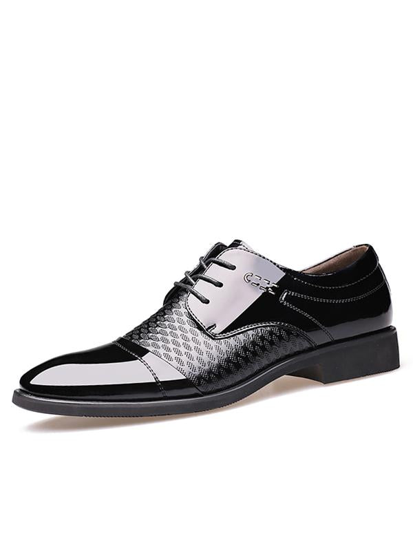 Business Men's Pointed Lace-up Shoes
