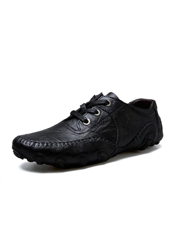 Fashion Lace Leather Casual Shoes