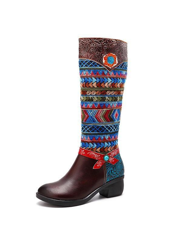 Handmade Vintage Ethnic Leather Boots