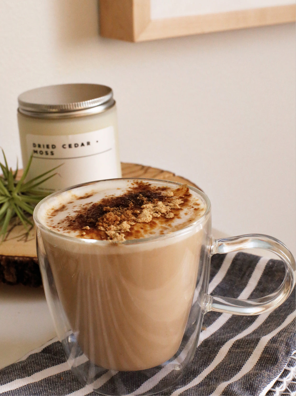 Maca Caramel Sifted Tea Latte