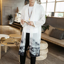 Load image into Gallery viewer, Chinese Style White Men's Long Cardigan