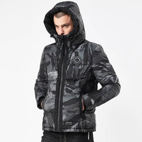 Men's Fashion Camo Warm Hooded Jacket