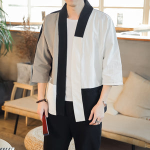 Male Vintage Linen Windbreaker