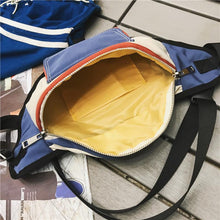 Load image into Gallery viewer, Unisex Color Block Nylon Fanny Pack  Belt bag