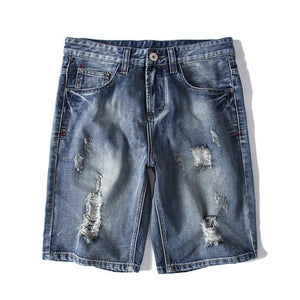 2019 summer new product hole trend big size trend denim shorts
