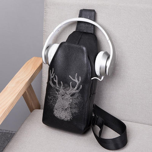 Men Deer printed Bag