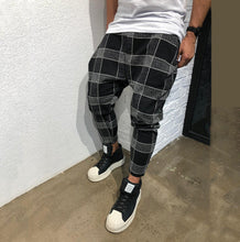 Load image into Gallery viewer, Men Casual Plaid Loose Haren Pants