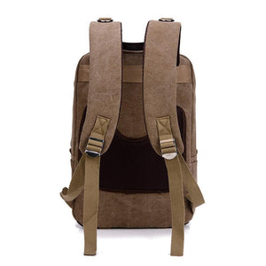 Fashion casual multi-function canvas backpack retro travel backpack
