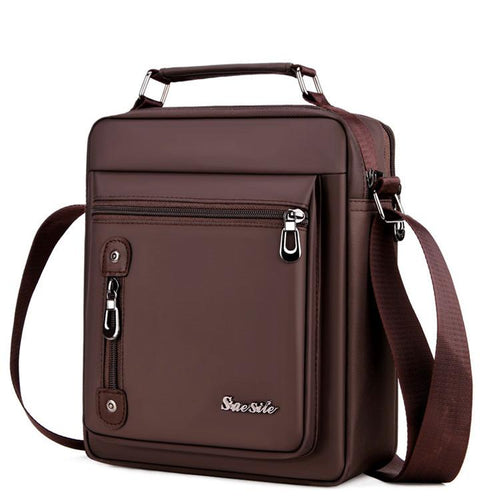 2019 new casual men's Oxford cloth backpack vertical retro business bag