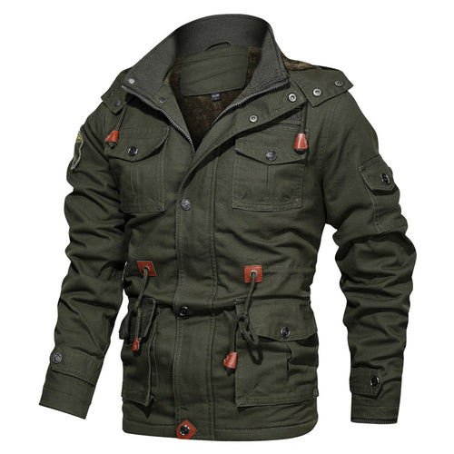 Men's Hooded Thickened Casual Jacket