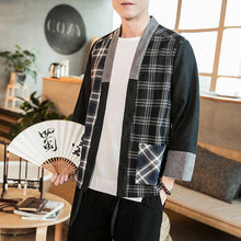 Load image into Gallery viewer, Cotton and linen stitching men's casual cardigan