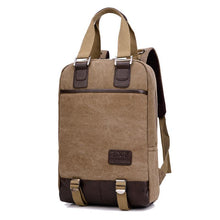 Load image into Gallery viewer, Fashion casual multi-function canvas backpack retro travel backpack