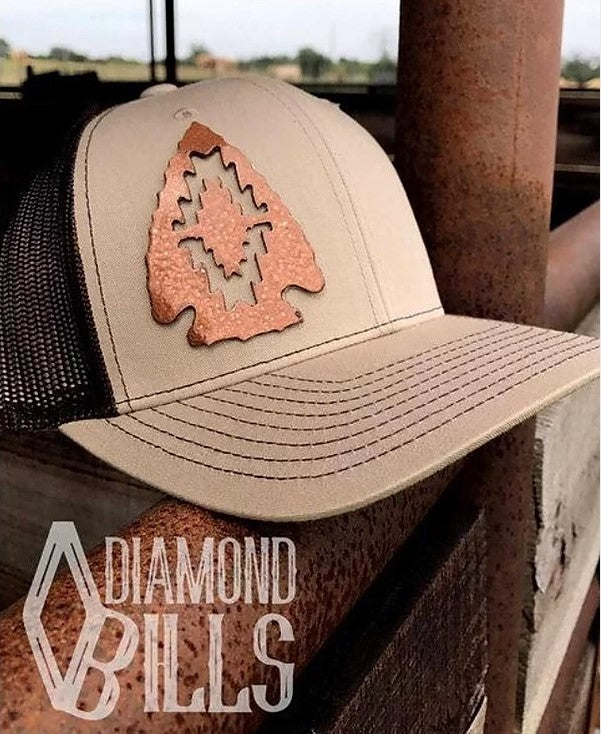 Copper Tan Cherokee Arrowhead Snap Back Cap - ON SALE
