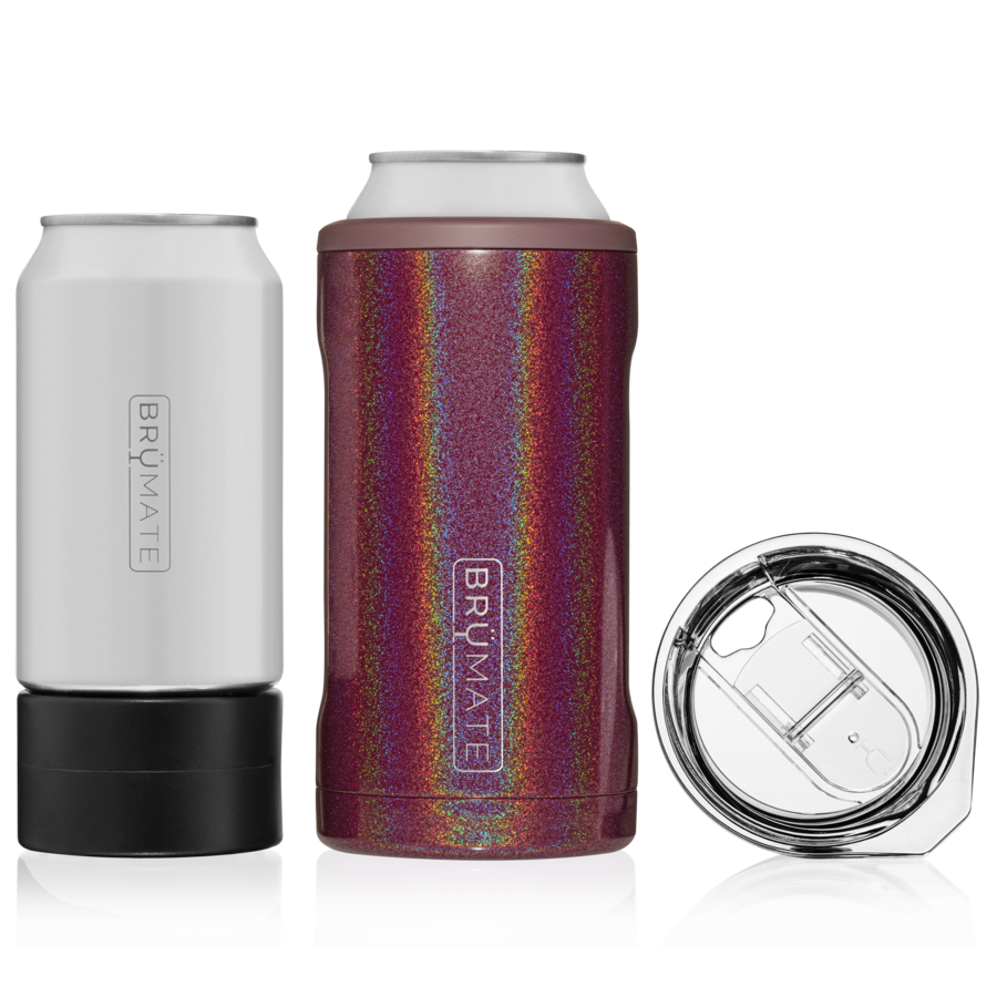 Glitter Merlot BRUMATE Hopsulator 3-in-1 Can Cooler/Cup
