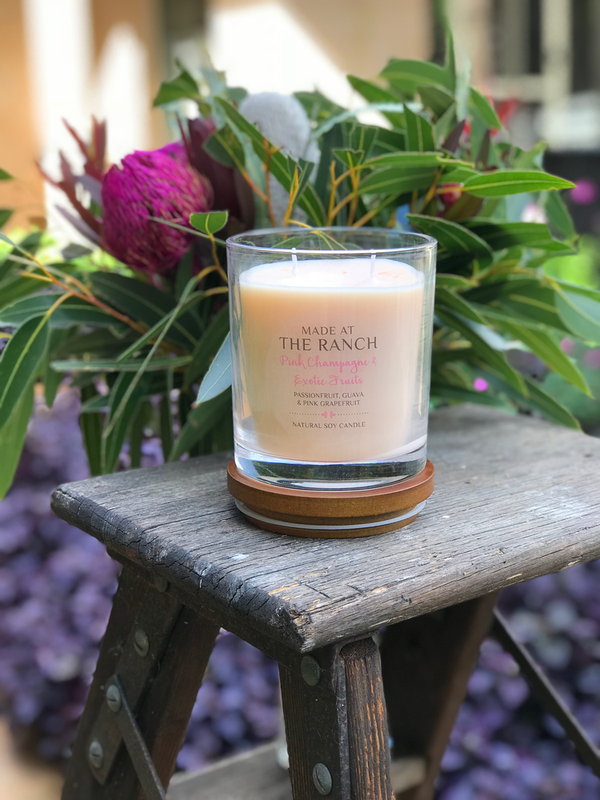 Pink Champagne & Exotic Fruits Made At The Ranch Candle
