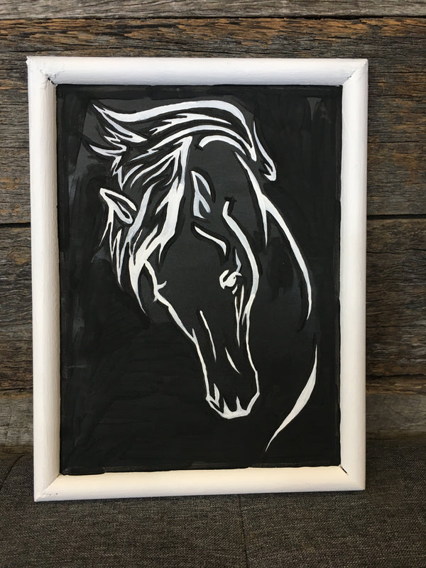 Horse Head Sign by Colby Designs