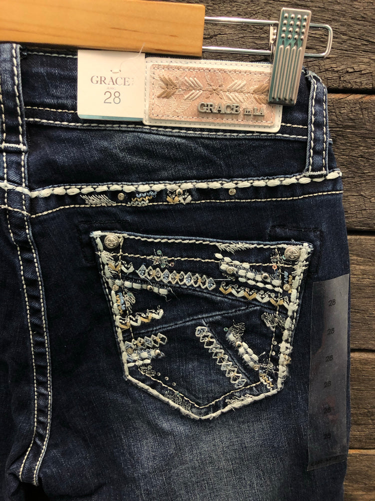 Diamond Design Grace In La Hipster Bootcut Jeans