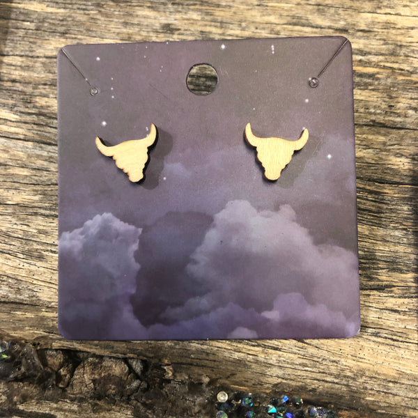 Coloured Resin Longhorn Earrings