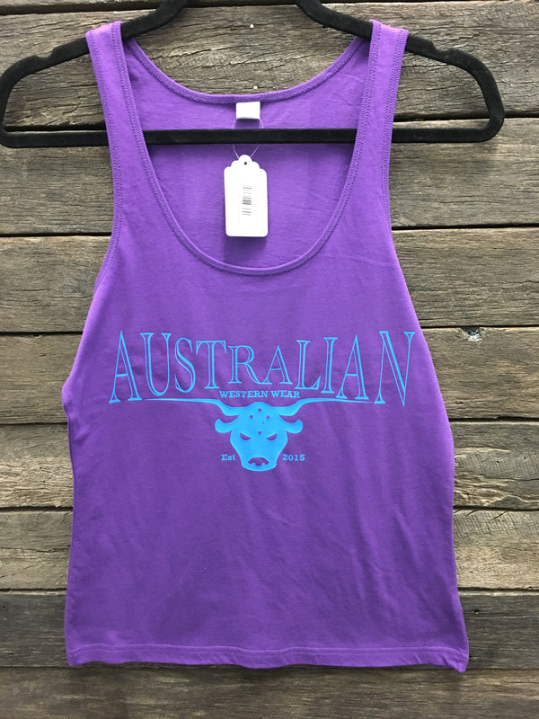 Australian Western Wear Purple Tank Top