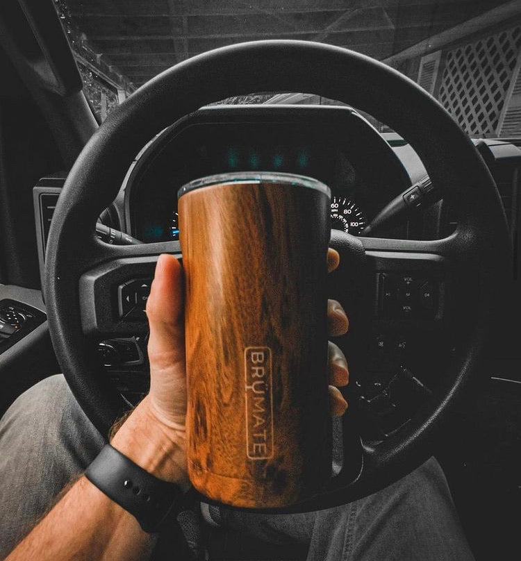 Walnut BRUMATE Hopsulator 3-in-1 Can Cooler/Cup