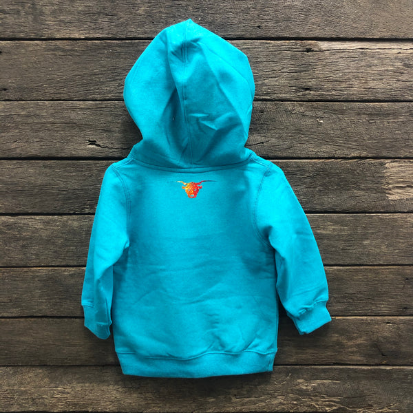 Rainbow Run Wild Horse Australian Western Wear Baby & Little Girls Fleece Hoodie LIMITED STOCK
