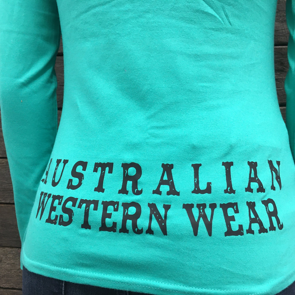 Australian Western Wear Green Long Sleeve Shirt