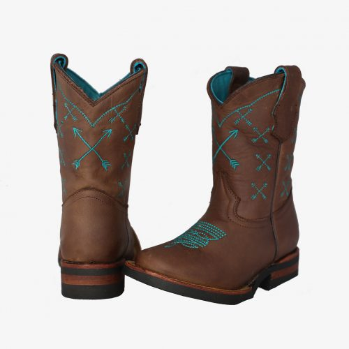 Youth Turquoise Arrow Boots