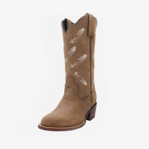 Kader Kookaburra Feather Light Brown Long Shaft Boots