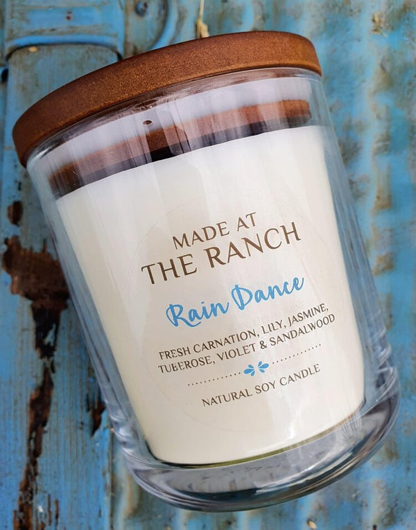 Rain Dance Made At The Ranch Candle