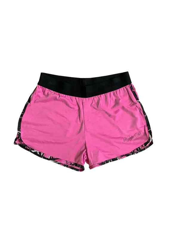 Muddy Girl Pink Athletic Shorts AU6-AU18 left
