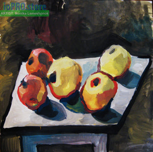 'Apples' (gouache on paper)