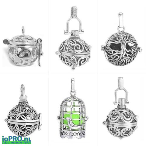 Aromatic Music Ball Pendant With Necklace Jewelry & Watches