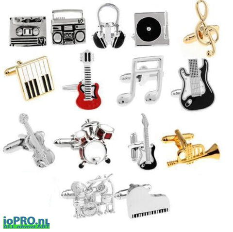 Cufflinks With Music Design Jewelry