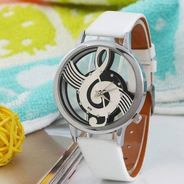 Music-watch with music-note design