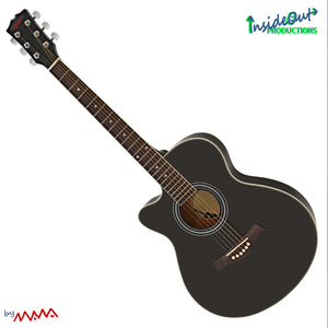 MAWA western guitar, left-hand, BLACK