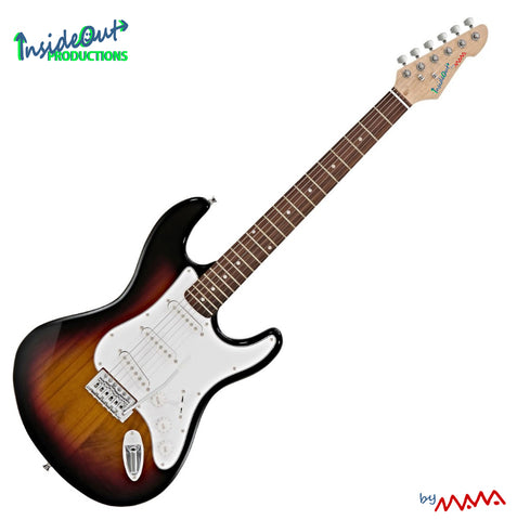 MAWA electric guitar,  sunburst STRAT-model