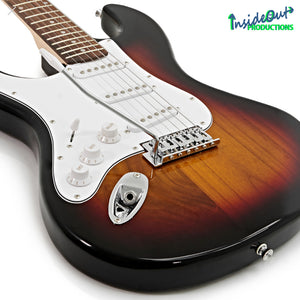 MAWA electric guitar, left-handed, sunburst STRAT