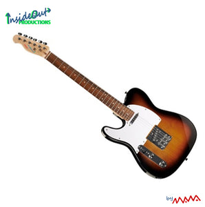 MAWA electric guitar, left-handed, sunburst TELECASTER-model