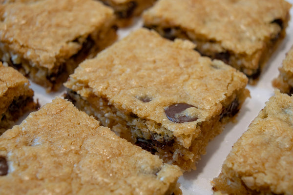 Dark Chocolate Coconut Blondies
