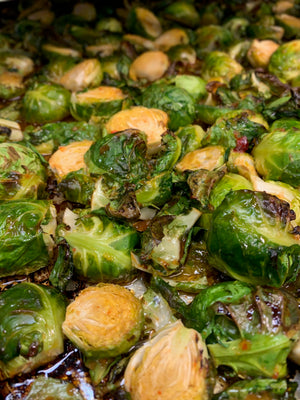 Roasted Sweet & Spicy Brussels